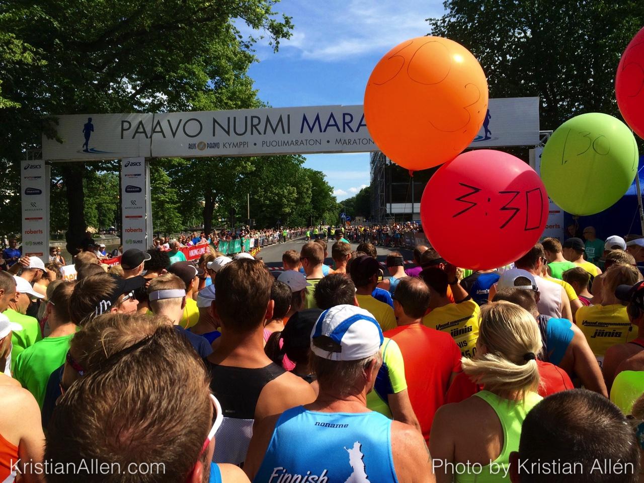 2.7.2016 21.22 km in Paavo Nurmi Marathon